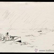 Arte: PERE YNGLADA SALLENT (SANTIAGO DE CUBA, 1881 - BARCELONA, 1958) GRABADO. PERSONAJES. Lote 45406941