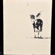 Arte: PERE YNGLADA SALLENT (1881 - 1958) DIBUJO ESTAMPADO REPRESENTANDO A UN JINETE. Lote 45408533
