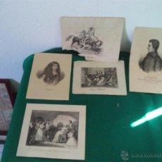 Arte: 5 GRABADOS ANTIGUOS. Lote 45512887