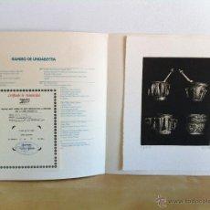 Arte: RAMIRO DE UNDABEYTIA. GRABADO NUMERADO Y FIRMADO. CERTIFICADO DE AUTENTICIDAD. ST-2. Lote 45526211