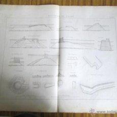 Arte: LOTE DE 20 GRABADOS DIQUES – GRÚAS FLOTANTE – FLOTADORES – ANDAMIOS PARA EMBARQUE – GABARRAS – TALL. Lote 45536926