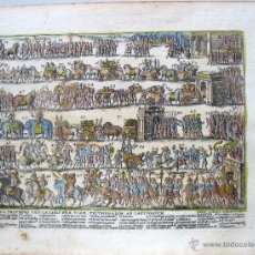 Arte: DESFILE TRIUNFAL DE ROMA, 1637.LAURO GIACOMO. Lote 45549426