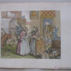 Arte: MOLL EN LONDRES, 1818. WILLIAM HOGARTH. Lote 45549958
