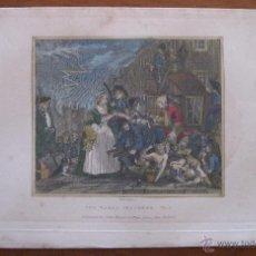 Arte: ESCENA COTIDIANA LONDINENSE, 1830. WILLIAM HOGARTH. Lote 45609229