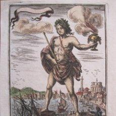 Arte: EL COLOSO DE RODAS, 1683. MALLET. Lote 45610125
