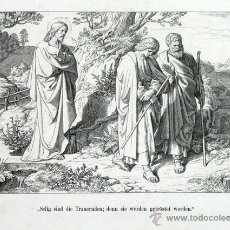 Arte: PRECIOSO GRABADO ALEMAN. SIGLO XIX. K OERTEL SC. MATÍAS, VERSICULO 5. ESCENA BÍBLICA.. Lote 45620268