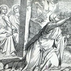 Arte: PRECIOSO GRABADO ALEMAN. SIGLO XIX. A. GABER. JOHANNES XX, 17 BIBLIA. Lote 45620385