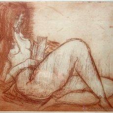 Arte: ETIENNE RET (FRANCIA 1900-1989), BELLISIMO E INTERESANTE GRABADO DE DESNUDO FEMENINO, FIRMADO.. Lote 66499918
