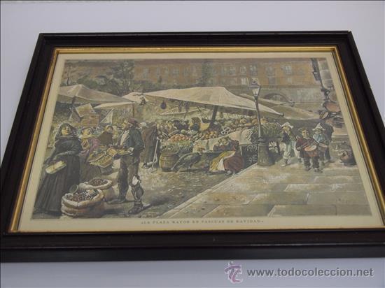 GRABADO COLOREADO. ENMARCADO. (Arte - Grabados - Modernos siglo XIX)