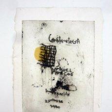 Arte: GRABADO DE PEDRO CASTRORTEGA (1956) / GALERIA MIGUEL MARCOS 1990 / SOLO 35 EJEMPLARES. Lote 45751549