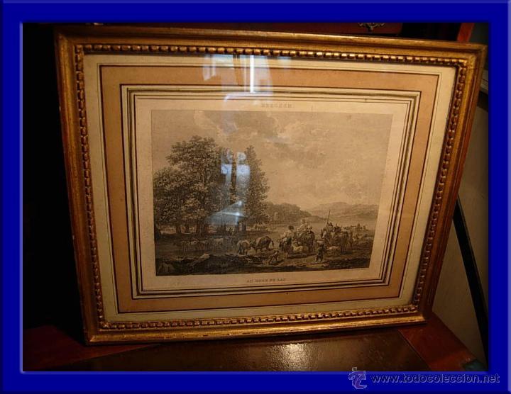 CUADRO GRABADO (Arte - Grabados - Modernos siglo XIX)