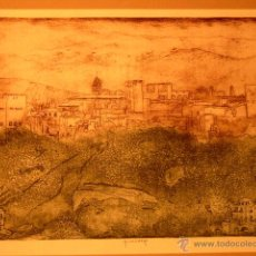 Arte: GRABADO DE LA ALHAMBRA DE GRANADA.98/100.COMO NUEVO. Lote 45871909