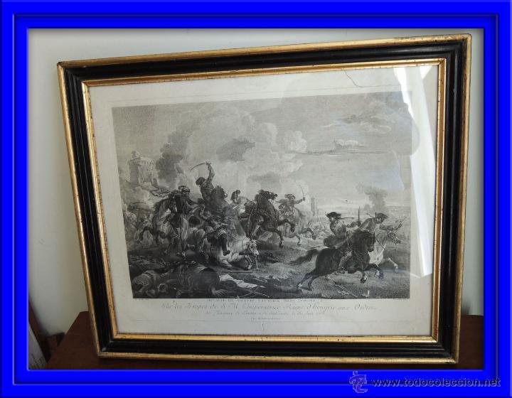 GRABADO DEL SIGLO XVIII FIRMADO POR AUG QUERFURT (1696-1761) (Arte - Grabados - Antiguos hasta el siglo XVIII)