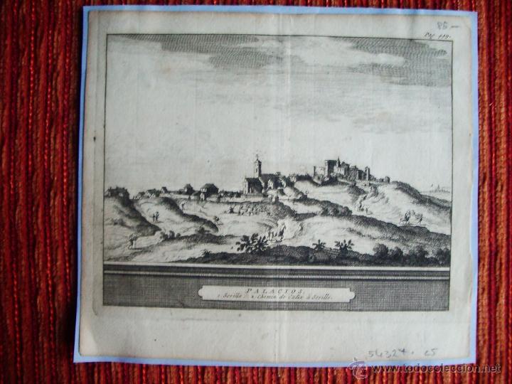 1650C-GRABADO ORIGINAL DE LOS PALACIOS. SEVILLA (Arte - Grabados - Antiguos hasta el siglo XVIII)