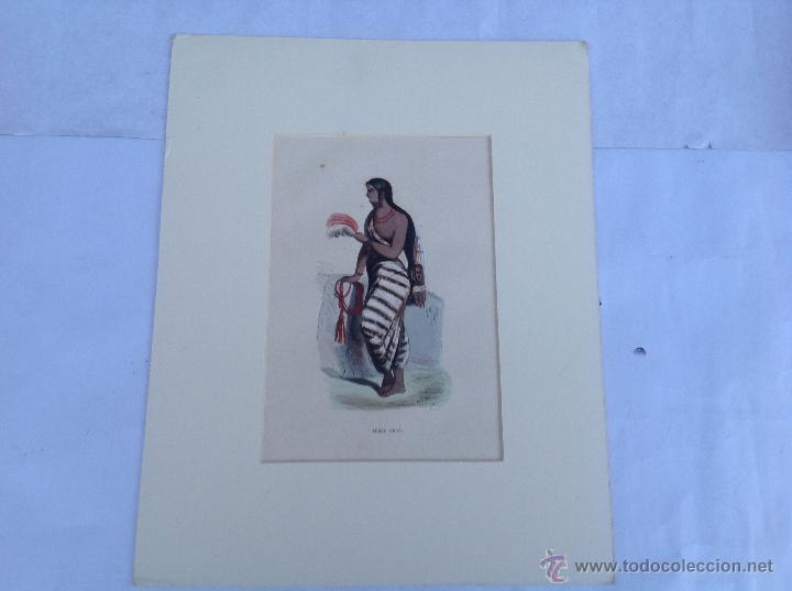 GRABADO COLOREADO. PPIOS S XIX (Arte - Grabados - Modernos siglo XIX)