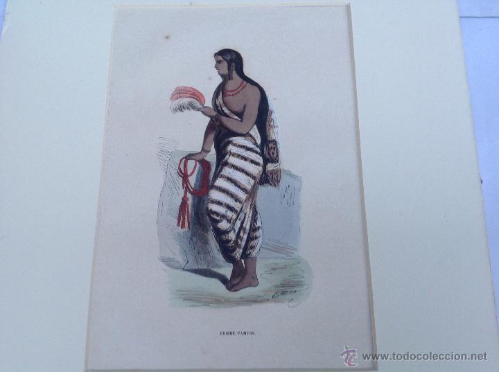 Arte: Grabado coloreado. Ppios s XIX - Foto 2 - 46157901