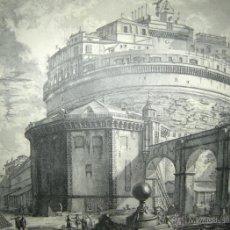 Arte: VEDUTA DEL MAUSOLEO D'ELIO ADRIANO- FACSIMIL- PIRANESSI- REPRODUCCIÓN HOLANDESA-AÑOS 30. Lote 46179155