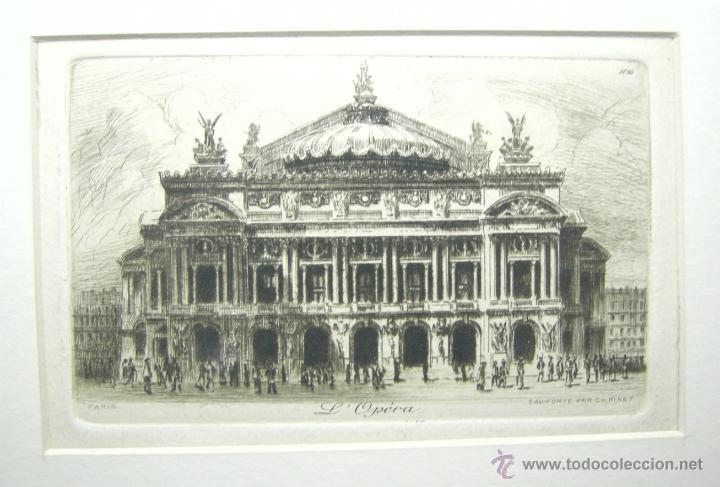 AGUAFUERTE- L'OPERA DE PARIS. (Arte - Grabados - Modernos siglo XIX)