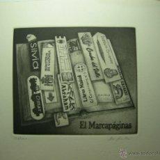 Arte: JORGE PERELLÓN-2013- EL MARCAPÁGINAS-AGUAFUERTE Y RESINA. Lote 46188866