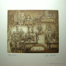 Arte: JORGE PERELLÓN-2013- TÍTULO:EL SALÓN- AGUAFUERTE Y RESINA. Lote 46188924