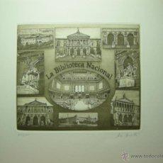 Arte: JORGE PERELLÓN-2013- TÏTULO: LA BIBLIOTECA NACIONAL- AGUAFUERTE Y RESINA. Lote 46188943