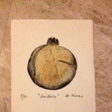 Arte: RUFINO DE MINGO . CUIDADO . GRABADO . AÑOS 80 . PINTOR GRABADOR Y MURALISTA . . Lote 46202716