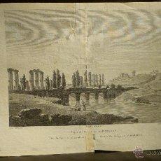 Arte: VISTA DEL PUENTE DE ALBAREGAS POR ALEXANDRE LABORDE 1806-20.. Lote 46295983