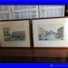 Arte: PAREJA DE GRABADOS ITALIANOS CON ESCENAS VENECIANAS. Lote 44245771