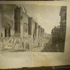 Arte: VISTA EXTERIOR DE LA MEZQUITA DE CORDOVA DE ALEXANDRE LABORDE 1806-20. Lote 46296622
