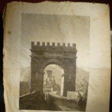 Arte: ARCO DE TRIUNFO EN ALCANTARA DE ALEXANDRE LABORDE 1806-20. Lote 46297418