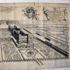 Arte: GRABADO ALLADIENSE PALATIUM , THEATRUM SABAUDIAE , ANTIGUO , ORIGINAL. Lote 46315426