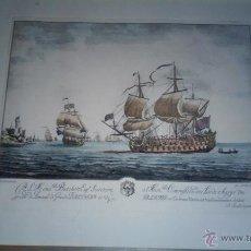 Arte: PRECIOSO GRABADO ILUMINADO DE MARINA.. Lote 46316967