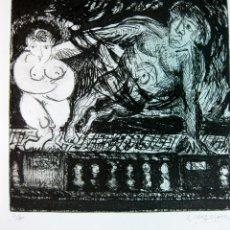 Arte: JUAN CRUZ-PLAZA. AGUAFUERTE ORIGINAL. Lote 46414673