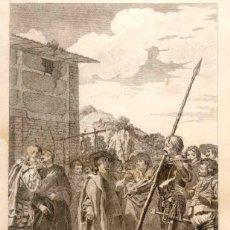 Arte: GRABADO DE JOAQUÍN BALLESTER, DEL 1780, TEMA DE EL QUIJOTE. Lote 46431155