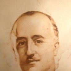 Arte: GRABADO DE FRANCO, FIRMADO LUIS GARCIA 1939 MEDIDAS 58X45CM. Lote 46604771