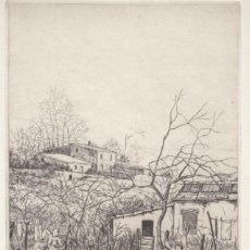 Arte: RAMON DE CAPMANY / GRABADO FIRMADO NUMERADO A LÁPIZ III/58.1949. POEMA JOSEP M. BOIX ,FIRMA AUTÓGRAF. Lote 26415500