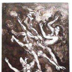 Arte: LUIS GARCÍA OCHOA AGUAFUERTE ORIGINAL-5 FIRMADO NUMERADO 115/200 COLECCIONES PRIVADAS ACTA NOTARIAL. Lote 46718862