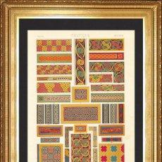 Arte: CELTA, LITOGRAFIA XXXVIII ORIGINAL DE FINALES DEL S.XIX, L'ORNEMENT POLYCHROME, ALBERT RACINET. Lote 46913251