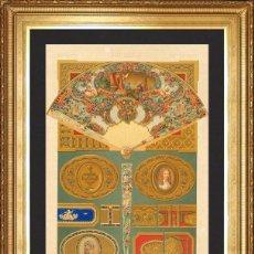 Arte: SIGLO XVIII, LITOGRAFIA XCVI ORIGINAL DE FINALES DEL S.XIX L'ORNEMENT POLYCHROME, ALBERT RACINET. Lote 46913279