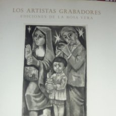 Arte: GRABADO ARTISTAS GRABADORES ROSA VERA 1957 NACIMIENTO FELICITACIÓN NAVIDAD . MARIA J COLOM FIRMADO. Lote 46975483
