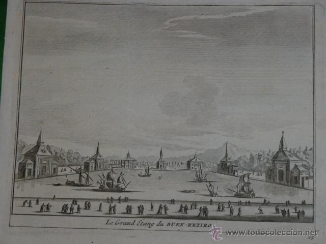 LE GRAND ETANG DU BUEN RETIRO (Arte - Grabados - Antiguos hasta el siglo XVIII)