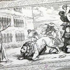 Arte: ANTIGUO Y PRECIOSO GRABADO ALEMÁN. GRAN CALIDAD Y BONITAS CENEFAS. Lote 47037131