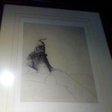 Arte: RETRATO EN AGUAFUERTE 1997. PRUEBA DE ARTISTA.. Lote 47126898