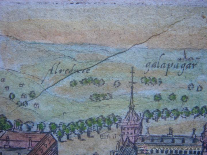 Arte: GRABADO DEL MONASTERIO DEL ESCORIAL, ORIGINAL, BERTIUS-HONDIUS, 1609, PERFECTO ESTADO Y COLOREADO. - Foto 7 - 47378131