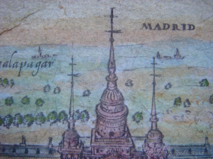 Arte: GRABADO DEL MONASTERIO DEL ESCORIAL, ORIGINAL, BERTIUS-HONDIUS, 1609, PERFECTO ESTADO Y COLOREADO. - Foto 8 - 47378131