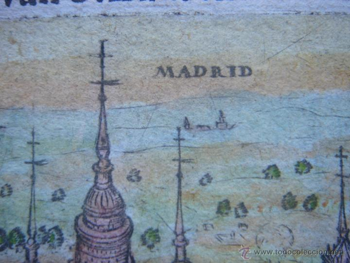 Arte: GRABADO DEL MONASTERIO DEL ESCORIAL, ORIGINAL, BERTIUS-HONDIUS, 1609, PERFECTO ESTADO Y COLOREADO. - Foto 10 - 47378131