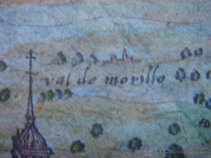 Arte: GRABADO DEL MONASTERIO DEL ESCORIAL, ORIGINAL, BERTIUS-HONDIUS, 1609, PERFECTO ESTADO Y COLOREADO. - Foto 11 - 47378131