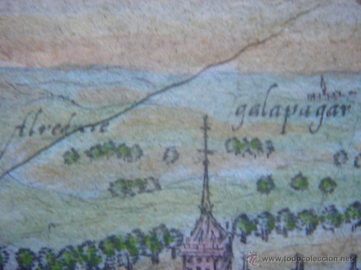 Arte: GRABADO DEL MONASTERIO DEL ESCORIAL, ORIGINAL, BERTIUS-HONDIUS, 1609, PERFECTO ESTADO Y COLOREADO. - Foto 12 - 47378131