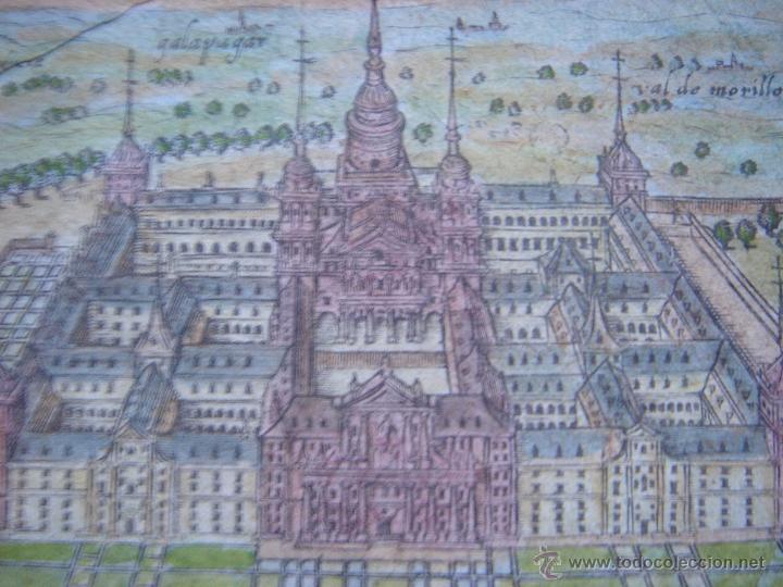 Arte: GRABADO DEL MONASTERIO DEL ESCORIAL, ORIGINAL, BERTIUS-HONDIUS, 1609, PERFECTO ESTADO Y COLOREADO. - Foto 13 - 47378131