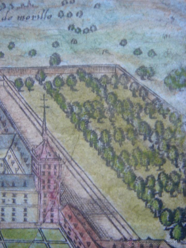 Arte: GRABADO DEL MONASTERIO DEL ESCORIAL, ORIGINAL, BERTIUS-HONDIUS, 1609, PERFECTO ESTADO Y COLOREADO. - Foto 14 - 47378131